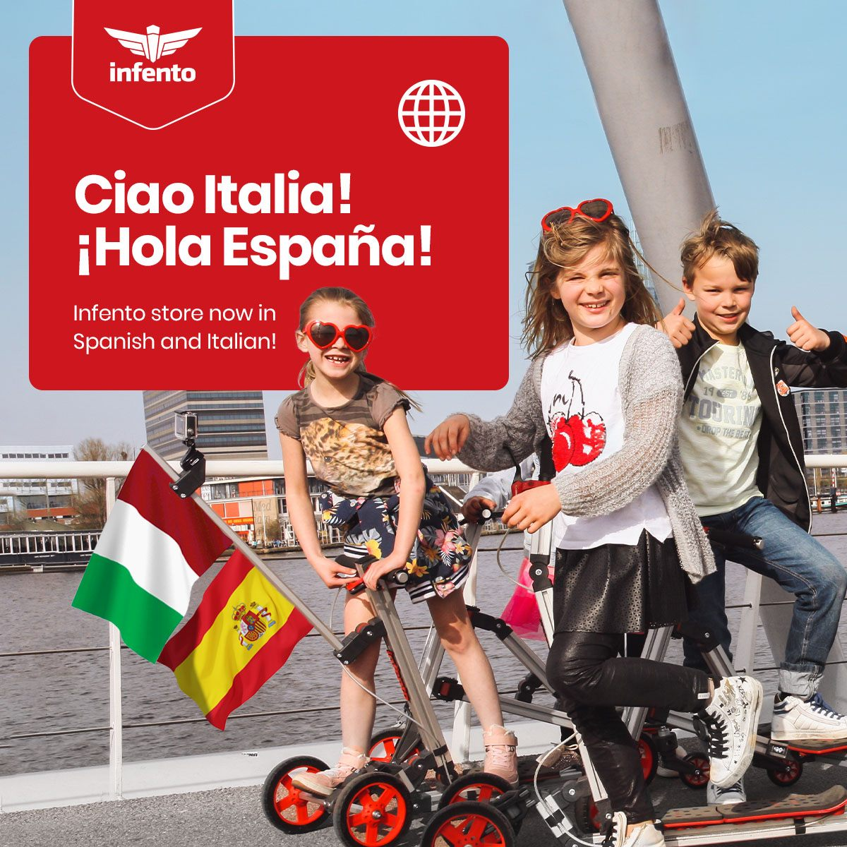 Infento in Spanish and Italian photo